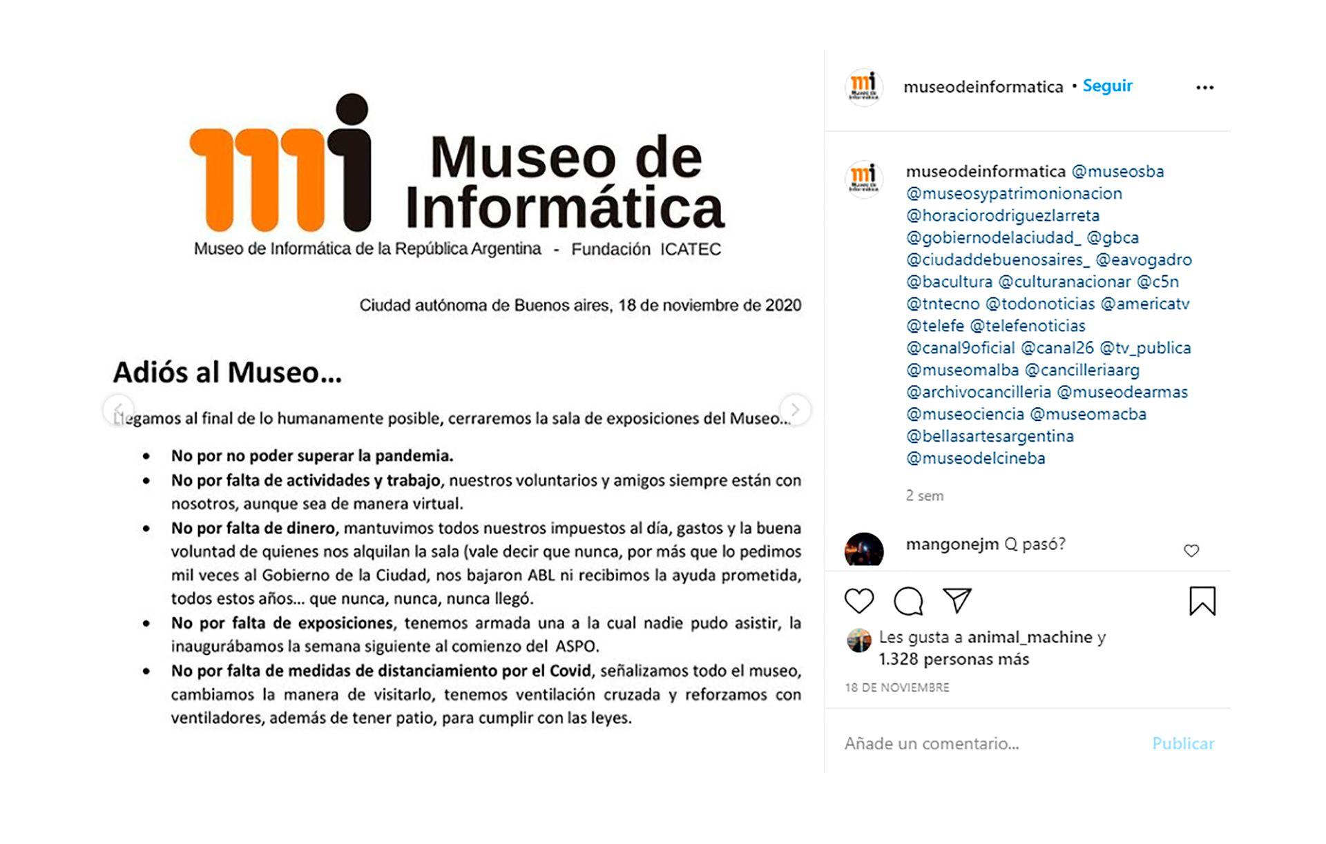 Adios al Museo