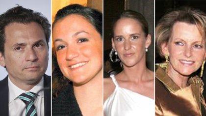 La familia Lozoya. (De izquierda a derecha) Emilio Lozoya, Gilda Lozoya Austin, Marielle Helene Eckes, y Gilda Austin (Foto: Especial)