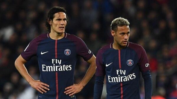 Cavani y Neymar tienen una mala relación dentro y fuera del campo de juego (AFP)