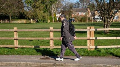 Una foto habitual en Leeds: caminando por las calles del lugar que escogió para vivir (Foto: LeedsARG_)