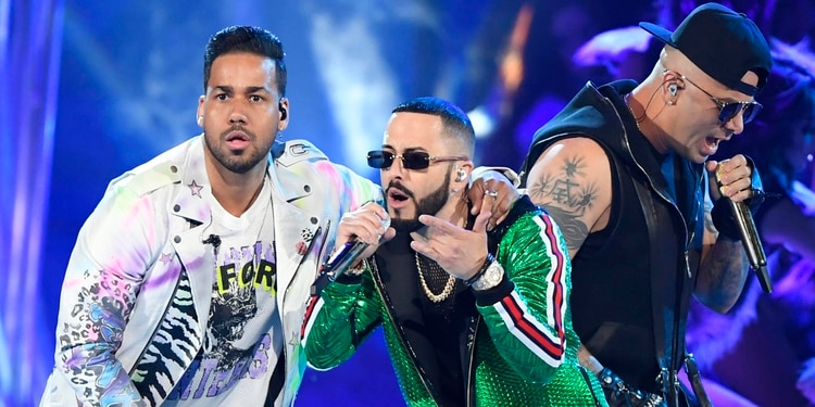 PREMIOS BILLBOARD DE LA MÚSICA LATINA 2019: Romeo Santos, Yandel and Wisin (Foto: Bryan Steffy NBC/Telemundo/Latin Billboards)