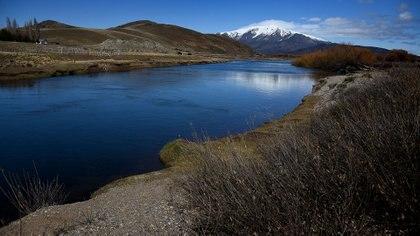 Río Chubut, cerca del lugar de los incidentes (Nicolás Stulberg)