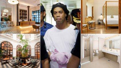 Ronaldinho está aislado en un hotel de cinco estrellas (Infobae)