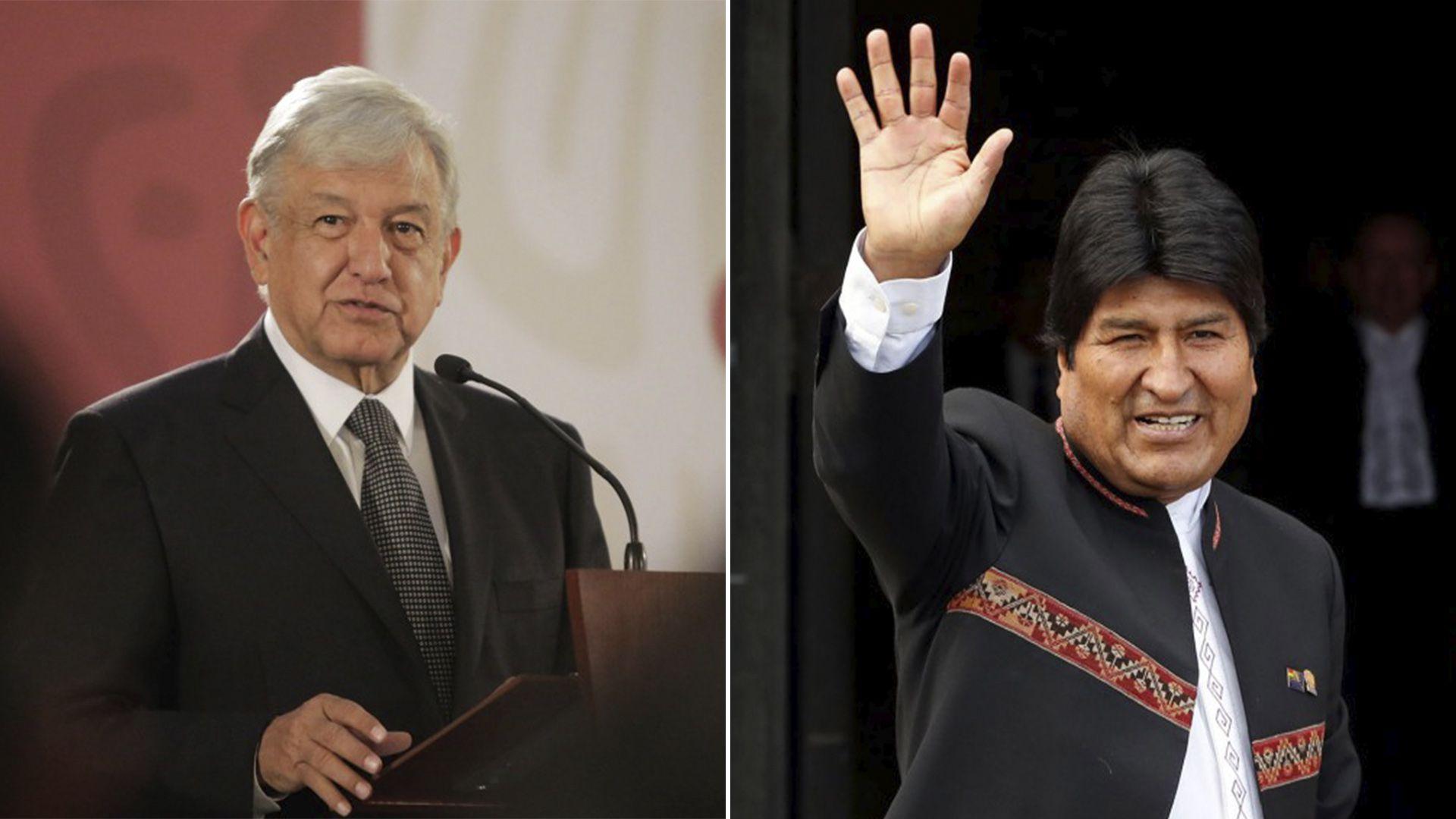 El presidente mexicano Andrés Manuel López Obrador y su par boliviano Evo Morales