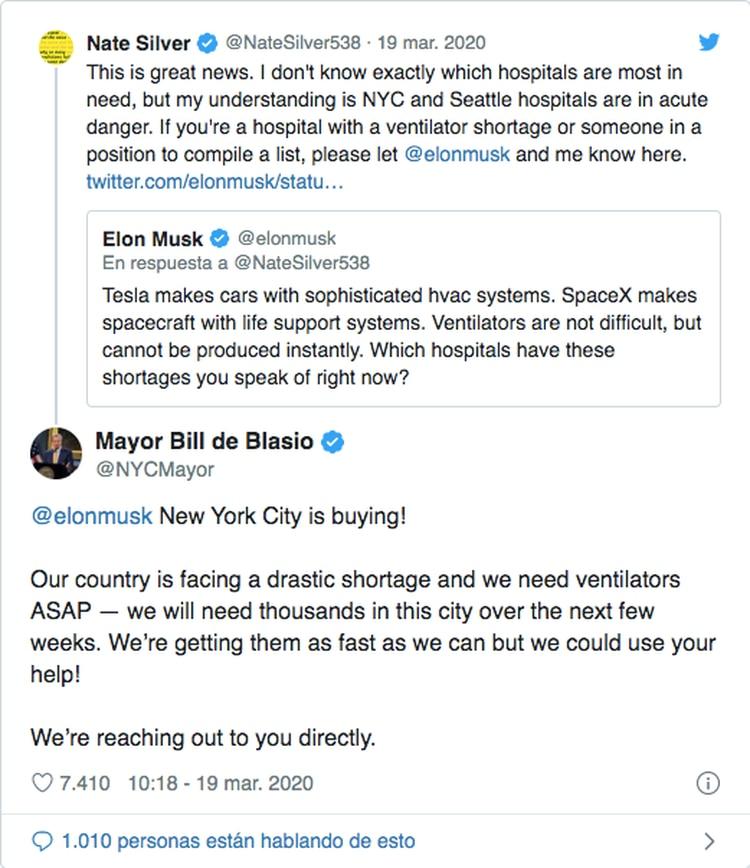 El pedido casi desesperado del alcalde de Nueva York a la fría propuesta de Musk.