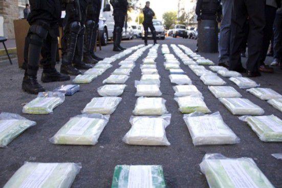 La cocaína del operativo Leones Blancos.