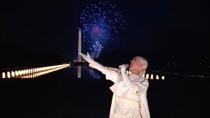 Katy Perry en el Celebrating America interpretó el tema Firework (Foto: AFP)