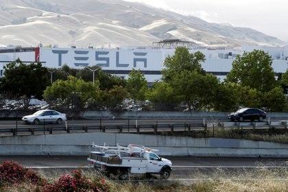 La principal fábrica de Tesla en Fremont, California. REUTERS/Stephen Lam/File Photo
