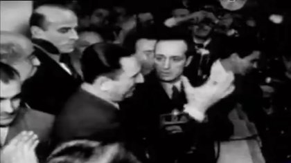 Juan Domingo Perón en el balcón de la Casa Rosada, el 17 de octubre de 1945