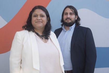 Celeste Medina y Ezequiel González.
