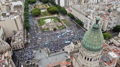 Ültima marcha masiva contra la legalización del aborto, el 28 de noviembre pasado (Franco Fafasuli)