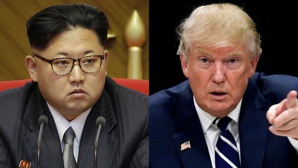 El líder supremo norcoreano, Kim Jong-un, y el presidente estadounidense, Donald Trump