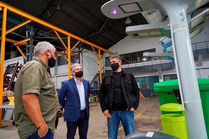 Jorge Macri, de visita en una planta industrial