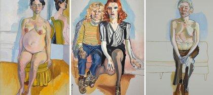"""Margaret Evan embarazada"" (1978) / ""Jackie Curtis y Ritta Redd"" (1970) / ""Andy Warhol"" (1970)"