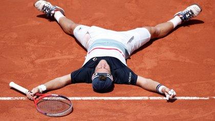 Diego Schwartzman, número 12 en el ranking ATP, festeja su victoria (Reuters)