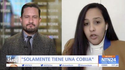 Mariel Colón insiste para que su clienta sea tratada de mejor manera en el encierro (Foto: Captura de pantalla/ntn24.com)