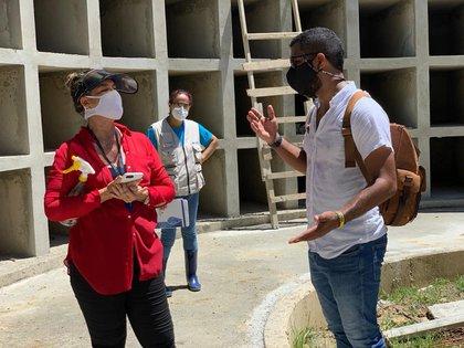 La Gobernación está construyendo 700 bóvedas nuevas para evitar que se acumulen los cuerpos.  Foto: Facebook Gobernación de San Andrés