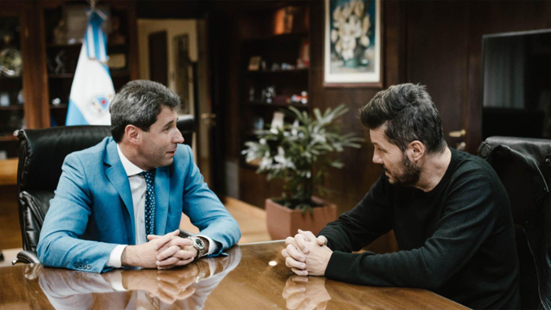 Sergio Uñac y Marcelo Tinelli