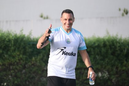 """De la mano de Christian """"Chaco"""" Giménez, el nuevo club de la Liga de Expansión MX se prepara de cara al Apertura 2020 (Foto: Twitter @cancun_fc)"""
