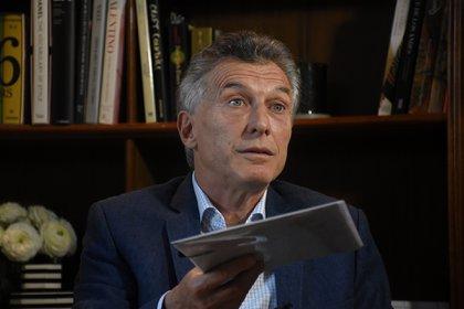 Mauricio Macri, el jueves en su casa de Acassuso, pronosticó que Juntos por el Cambio volverá al poder en 2023 (Nicolás Stulberg)