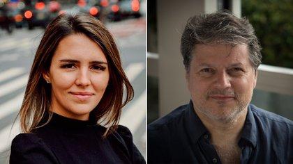 Los argentinos Valentina Berger (30) y Ricardo Hornos (54), son los productores de los musicales Company y The Minutes, y están radicados hace años en Nueva York (Foto/Gentileza de los entrevistados)