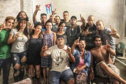 Otra imagen de lo que fue la huelga del Movimiento San Isidro, en Cuba
