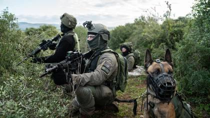 El entrenamiento en la frontera norte israelí
