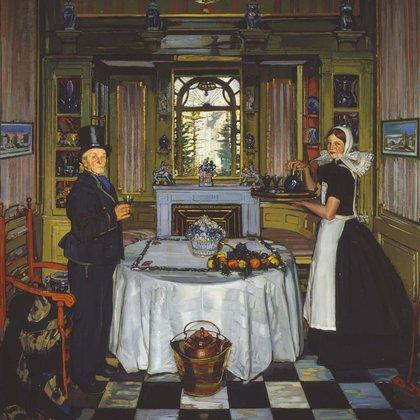 """Jacobo van Amstel en mi casa"" (1922) de Antonio Ortiz Echagüe (Museo Reina Sofía de Madrid, España)"