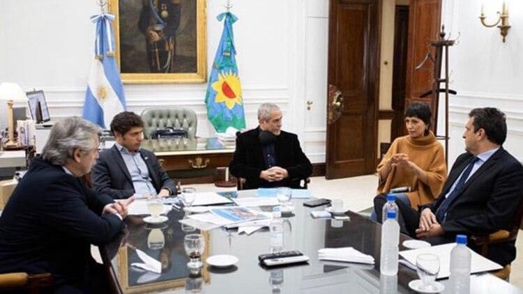 La reunión que mantuvieron Mayra Mendoza y Jorge Ferraresi con Alberto Fernández, Axel Kicillof y Sergio Massa