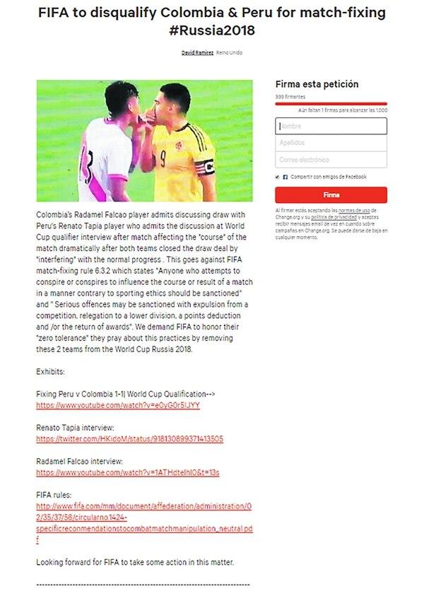 La página ya juntó más de 900 firmas