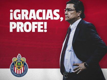 Chivas le da las gracias Luis Fernando Tena (Foto: Twitter@Chivas)