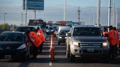 Puente La Noria: este jueves volvieron a registrarse demoras en los accesos a la Ciudad de Buenos Aires