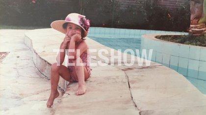 Vanesa González, de niña en Jamaica