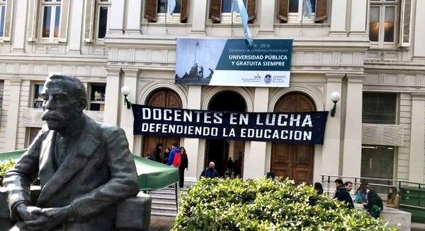 El paro en la Universidad Nacional de La Plata