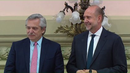 Alberto Fernandez y Omar Perotti
