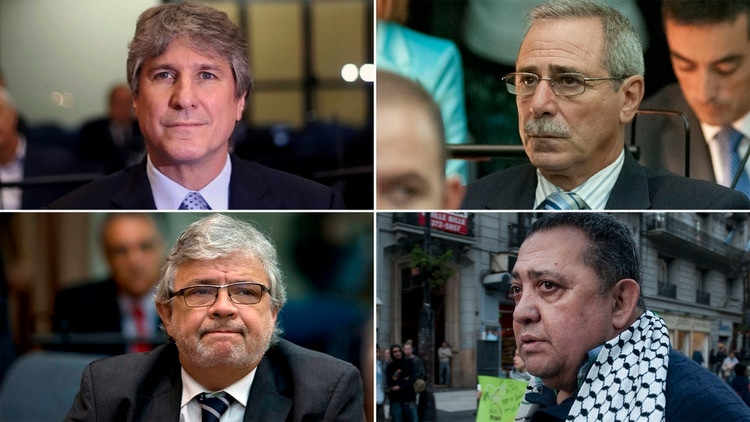 Amado Boudou, Ricardo Jaime, Juan Pablo Schiavi y Luis D'Elia