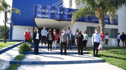 Gastón Granados, y el ministro de Producción, Ciencia e Innovación Tecnológica de la provincia de Buenos Aires