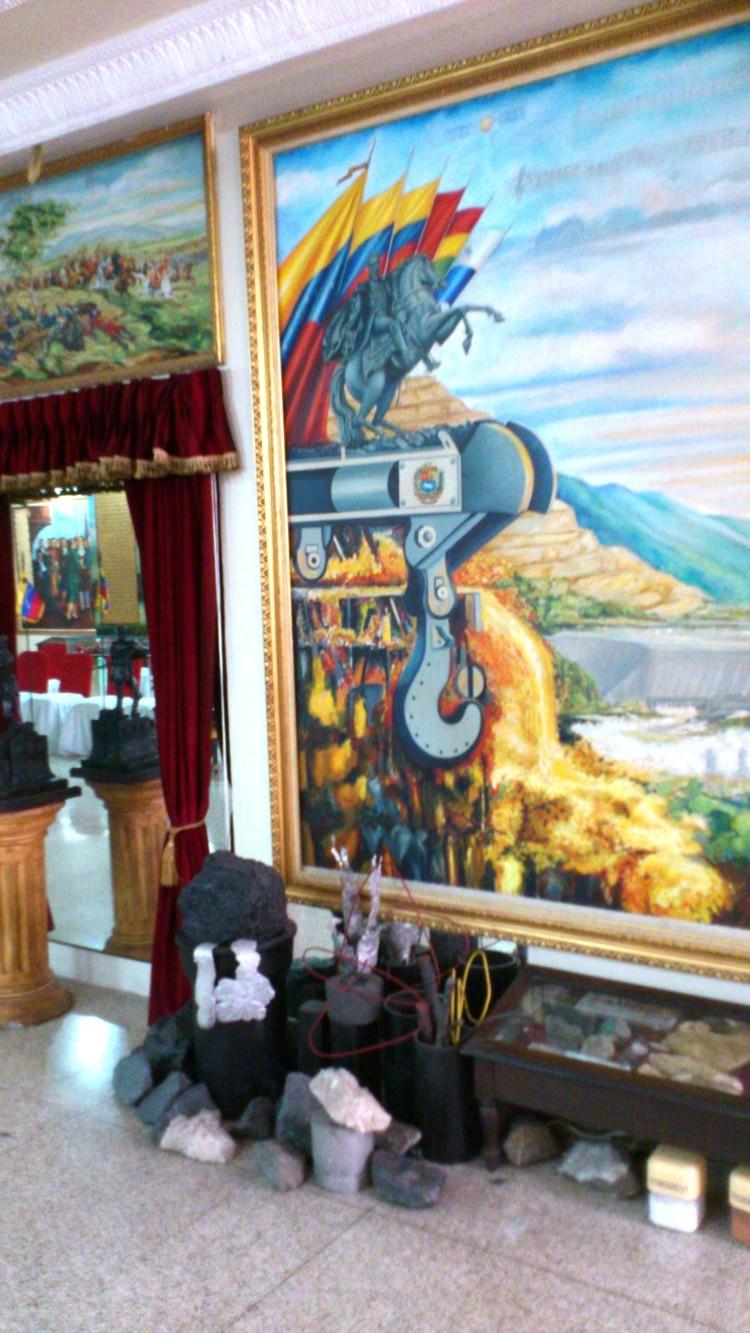 Altar santero en el Palacio de Miraflores. (Foto: David Placer)