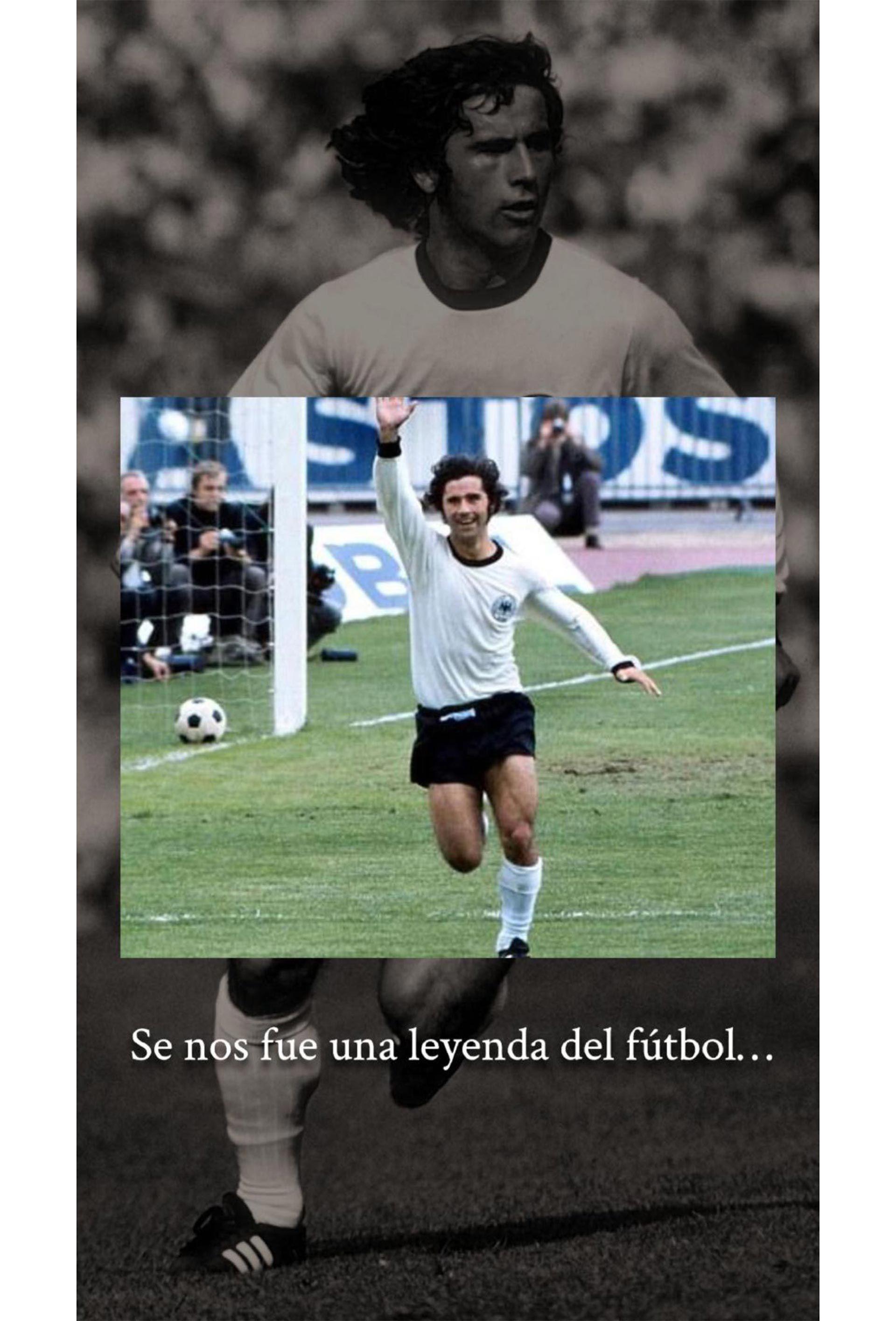 Lionel Messi con Gerd Muller