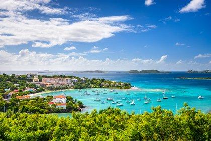 Las principales Islas Vírgenes de los Estados Unidos son St. Croix, St. Thomas, St. John y Water Island (Shutterstock)