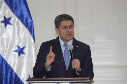 El presidente de Honduras Juan Orlando Hernández. EFE/Gustavo Amador/Archivo