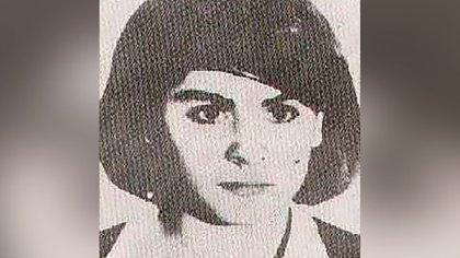 Ana María González, en la foto que difundió por aquellos días la policía
