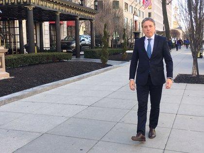 El ministro Nicolás Dujovne en Washington