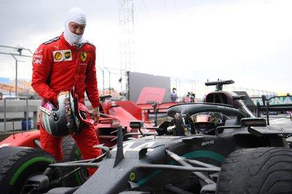 Vettel logró subirse al podio por primera vez en el 2020 (Foto: Reuters)