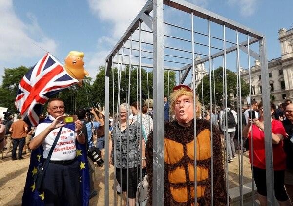 Protestas Trump Londres, Julio 2018 (Reuters)