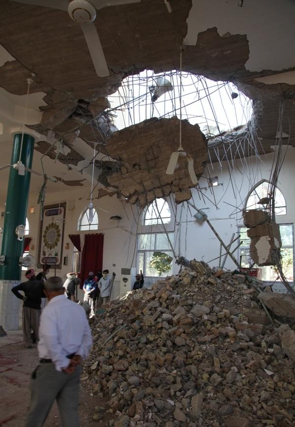 Daños en una mezquita de Khanaqin, Irak (Reuters)