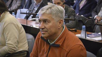 Lázaro Báez, uno de los acusados (foto Gustavo Gavotti)