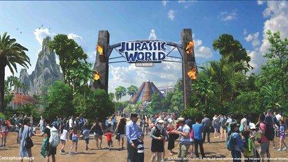 Jurassic World Isla Nublar dentro del  Universal Studios Beijing  (Universal Parks & Resorts)
