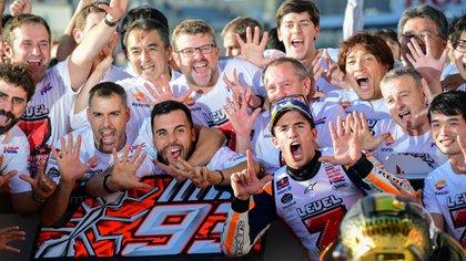 (AFP) Marc Márquez tiene un total de siete títulos en motociclismo