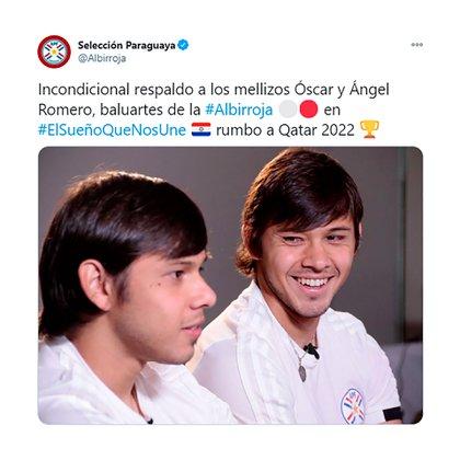 El mensaje de respaldo de la Selección paraguaya para los hermanos Romero
